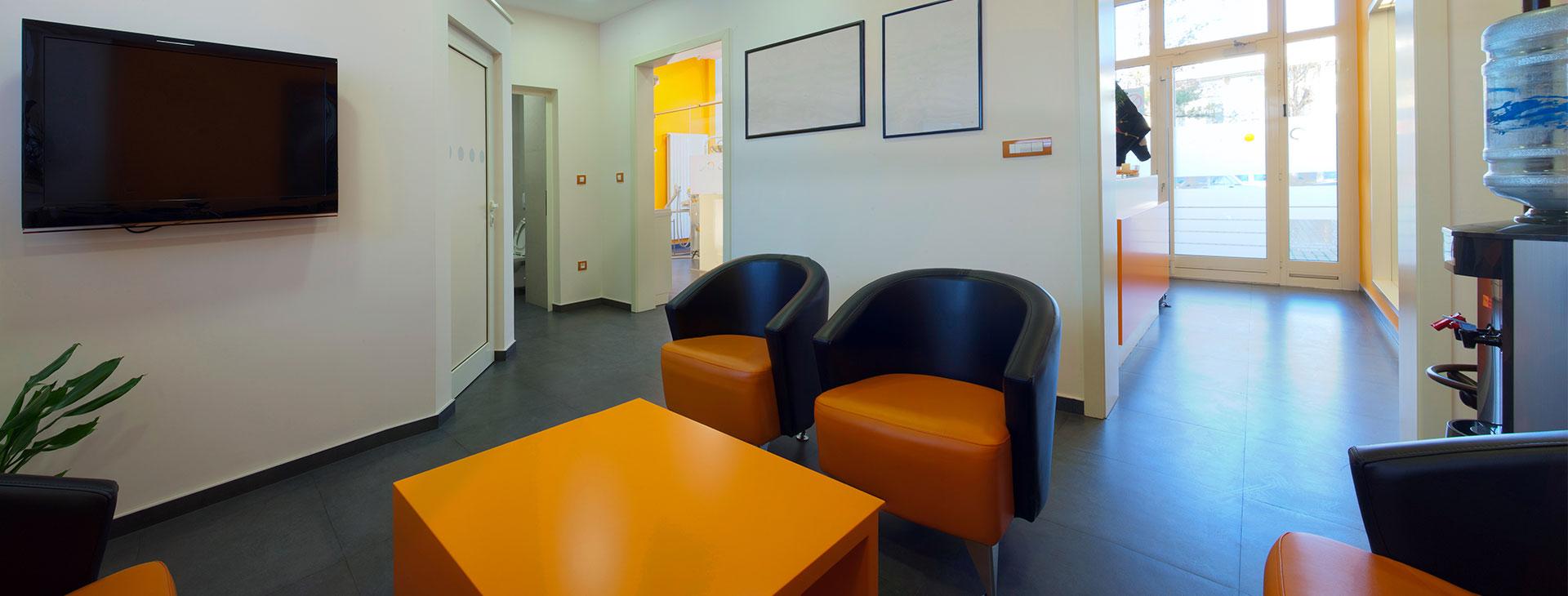 Waiting room at a dental clinic